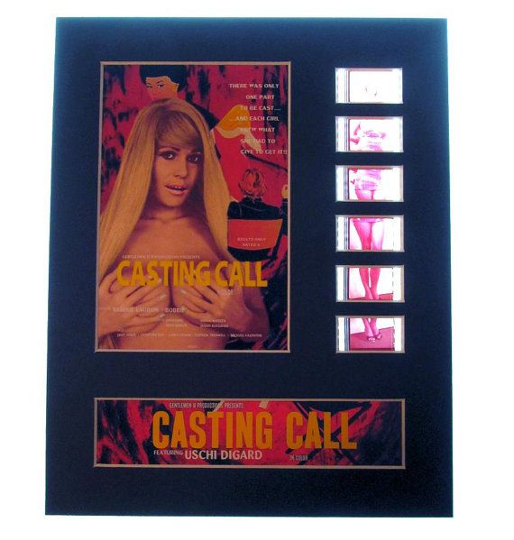 Casting Call 1971 Uschi Digard X-rated Classic Movie Frame Ready Matted Film Cells Classic Series 8x10