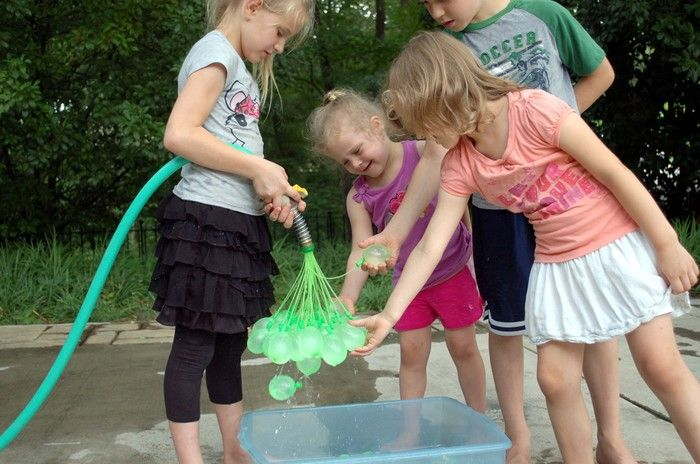 Bunch O Balloons, A Garden Hose Adapter That Fills and Ties 37 Water Balloons at the Same Time