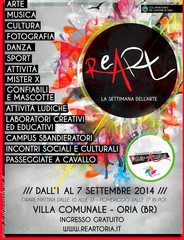 Oria le foto più belle della città, degli eventi, delle persone.: ReArt - La Settimana dell'Arte - II  Edizione - http://www.toninocarbone.it/2014/09/reart-la-settimana-dellarte-ii-edizione.html