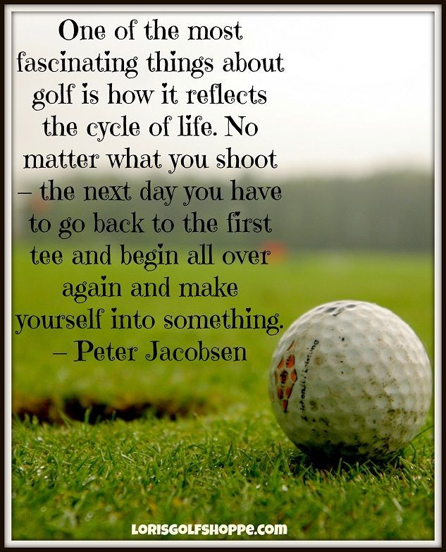 Marvelous A Little Monday #Golf Wisdom From Peter Jacobsen. Stay QuotesLife ... Images