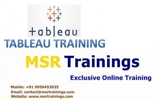 Tableau Online Training, Tableau Online Training in Hyderabad,India