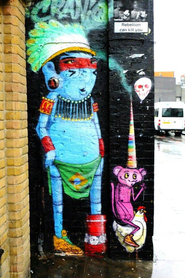Cranio Artes - street art london shoreditch - bricklane nov 2014