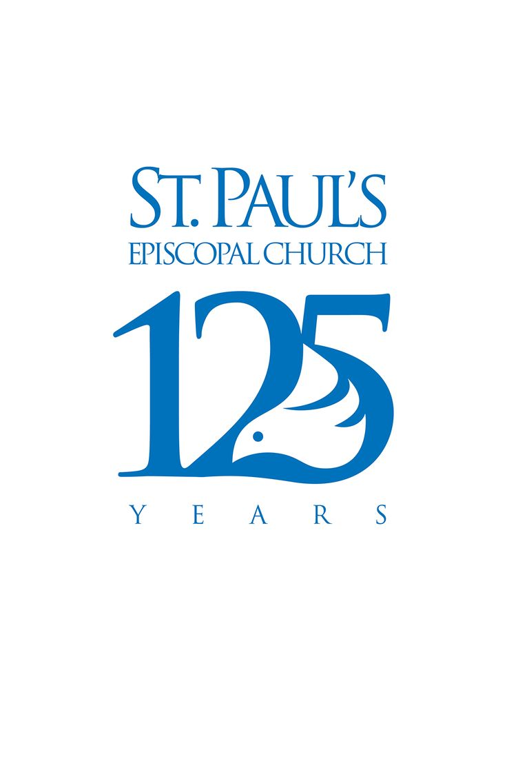 125th Anniversary logo for St. Paul's Episcopal Church in Columbus Indiana designed by Tony Beard