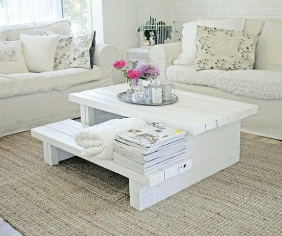 Pallet Coffee Table ... so cute.