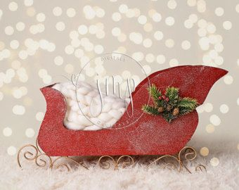Santa Navidad trineo luces recién nacido foto apoyo FONDO de telón de FONDO DIGITAL