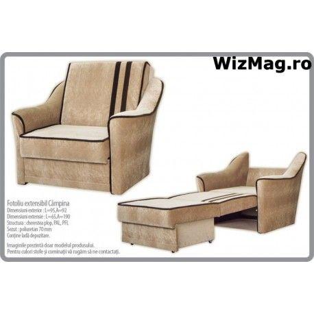 Fotoliu extensibil Campina modern WIZ 0031