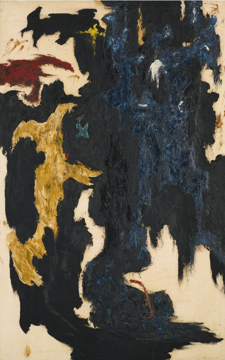 Clyfford Still 1904 - 1980 PH-218 Signed Clyfford Still and dated 1947 (lower right); signed Clyfford and titled PH-218 and inscribed 1947-K twice on the reverse Oil on canvas 63 by 40 in. 160 by 101.6 cm. Painted in 1947.