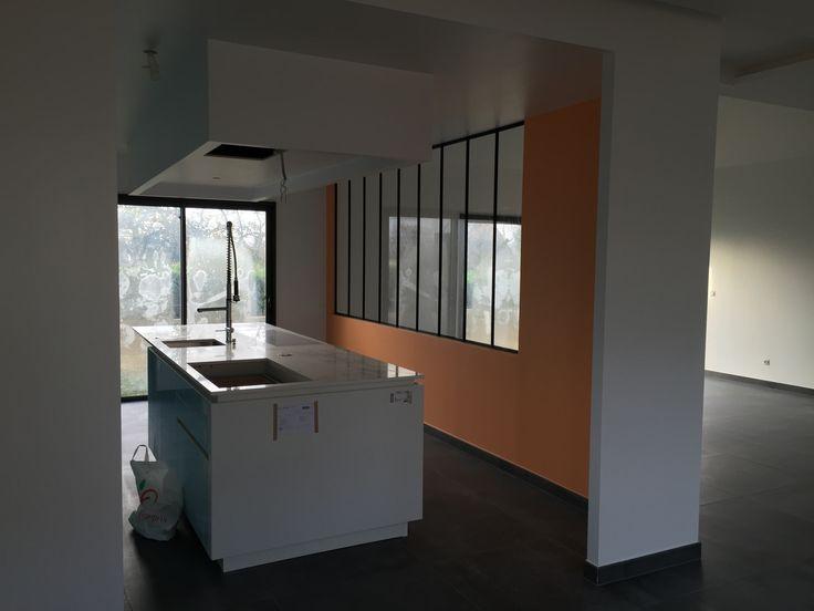 #Realisation d'une #cuisine contemporaine et épurée en Essonne
