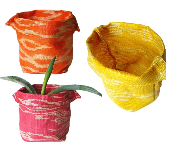 Sewing Projects, Ikat Fabrics, Projects Ideas, Bowls Uncovet, Ikat Planters, Fabrics Bowls