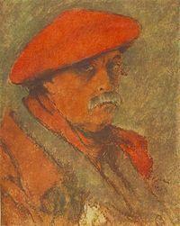 Rippl Rónai József:Vörössapkás önarckép (1924)