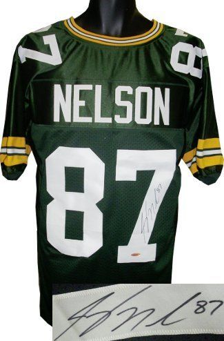 Jordy Nelson signed Green Bay Packers Green Prostyle Jersey- Tri-Star Hologram by Athlon Sports Collectibles. $179.00. Building on strong outings in the 2010-11 playoffs against Atlanta and Chicago, Nelson caught a 29-yard touchdown pass on third-and-1 with William Gay covering, for the first score of Super Bowl XLV. Nelson struggled some and made no more touchdowns. However, he recovered from a dropped pass early in the fourth quarter to make a 38-yard play on the next down, t...