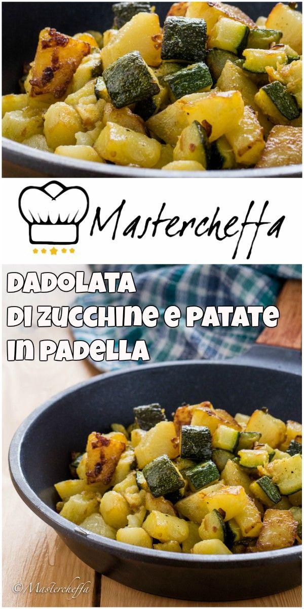 Dadolata di zucchine e patate in padella, un contorno semplice, veloce e gustoso!