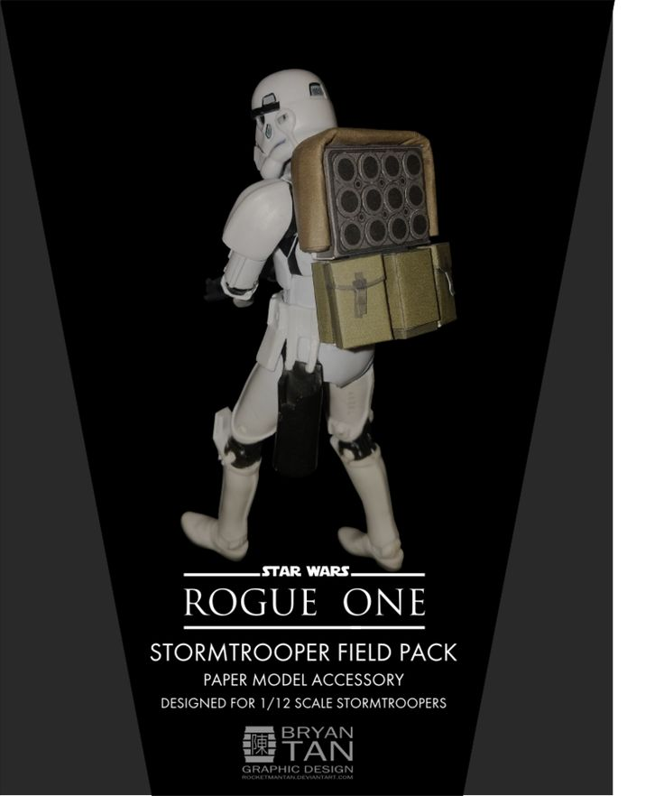 Rogue One - Stormtrooper Backpack Papercraft by RocketmanTan.deviantart.com on @DeviantArt
