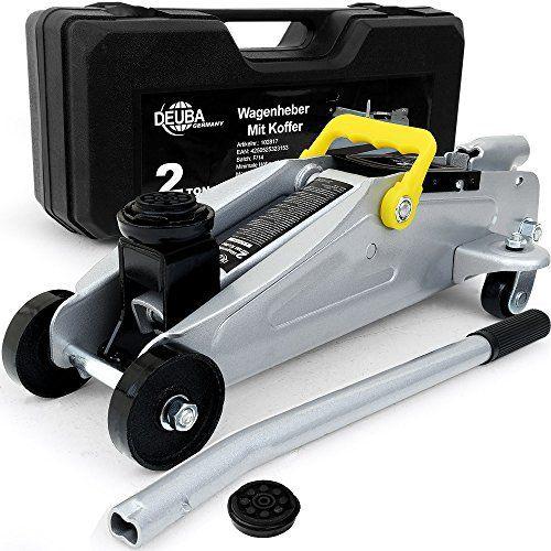 Cric hydraulique 2 tonnes changement pneu bricolage voiture- valise de transport: L'aide pratique dans l'atelier! Ce solide cric est équipé…