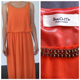 Same As Embellished High-Low Dress-Orange.  Was:50   Now CAD$25
