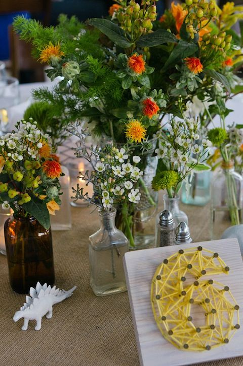 Clever wedding table numbers.