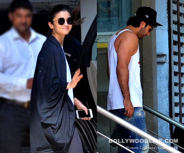 Alia Bhatt and Ranbir Kapoor SPOTTED outside Ayan Mukerji's house. Has prep for Dragon begun? #FansnStars