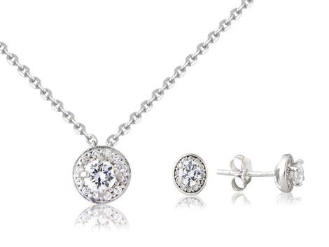 """Eclipse & Stars"" Sterling Silver pendant & earring set"