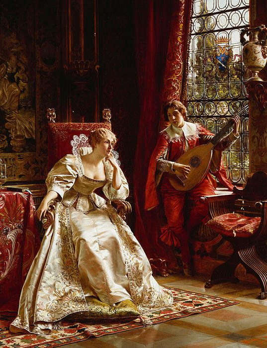 The Serenade Print By Joseph Frederick Charles Soulacroix: