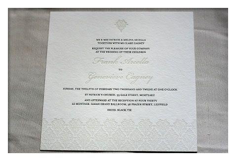wedding letterpress sample