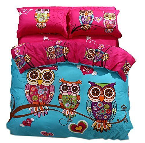 Cliab Owl Bedding Girl Duvet Cover Set Twin Size 3 Pieces 100% Cotton, http://www.amazon.com/dp/B00OUPNV2A/ref=cm_sw_r_pi_awdm_.OlYvb0DK8D2X
