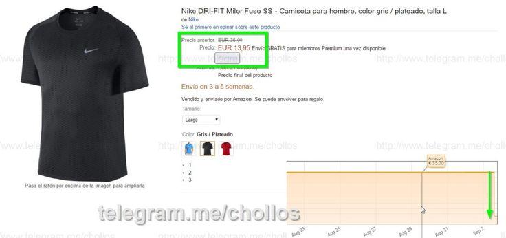 Camiseta Nike DRI-Fit L por sólo 1395 - http://ift.tt/2c0TO7C