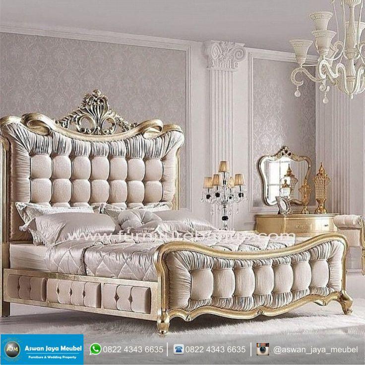 all white furniture design. Dipan Mewah King All White Furniture Design