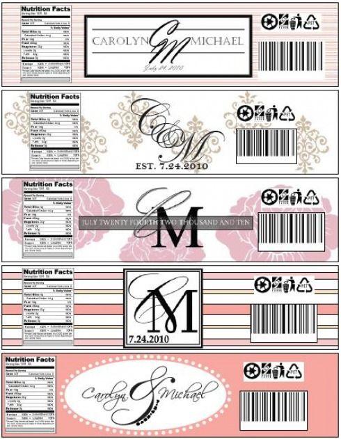 Best 25+ DIY wedding water bottle labels ideas on Pinterest - wedding labels template