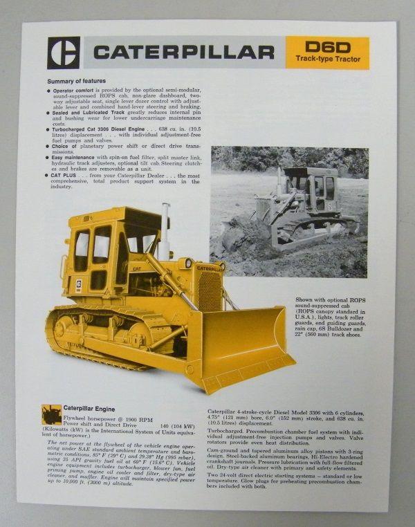 Caterpiller D60 Dozer Brochure   Vintage Industrial and