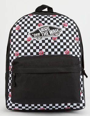 0c8d2c7873339 VANS Realm Rose Checkerboard Backpack