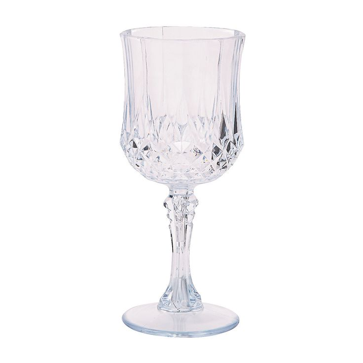 Clear+Patterned+Wine+Glasses+-+OrientalTrading.com