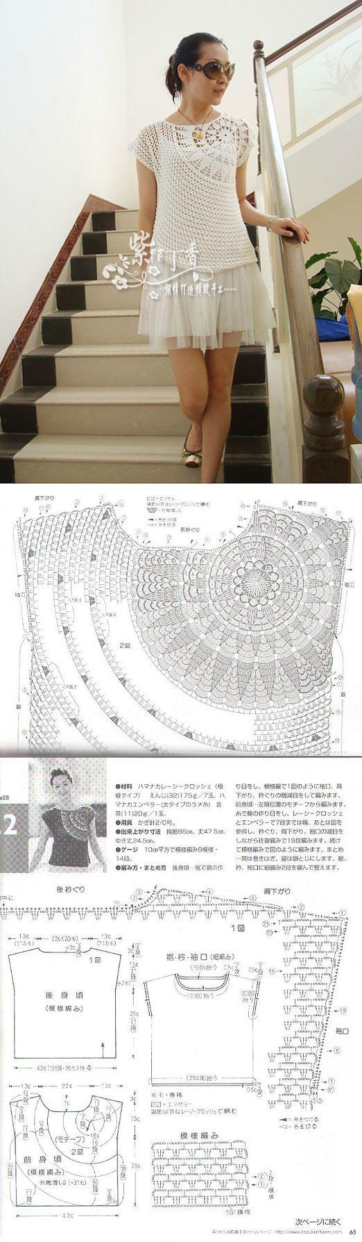 Especial vestidos de crochê com gráficos - Confira os modelos e looks em crochê