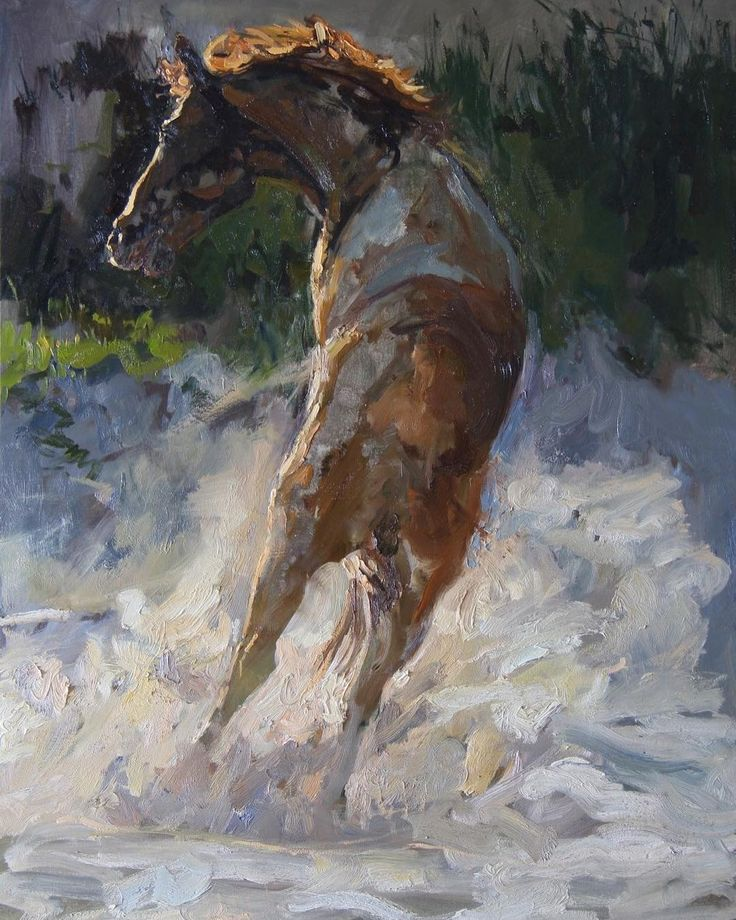 This one is called 'Breaking Free' I did this of one of a racehorse after his morning exercise he was rolling in the sand when another horse started kicking him he flung himself to the side to escape. #paintingsofhorses #racehorses #oilpainting #fineart #contemporarypainting #southafricanartist #pin