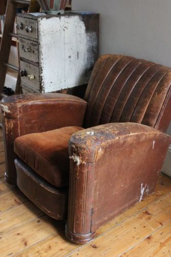 cool distressed club chair ...i want it now