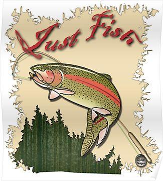Just Fish Trout Shirt Funny Fishing Shirts