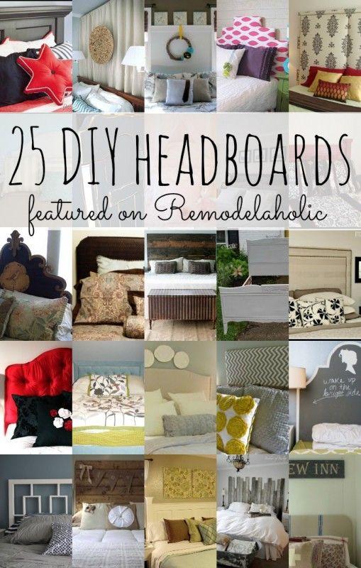 25 DIY Headboards on Remodelaholic.com #diy #headboards