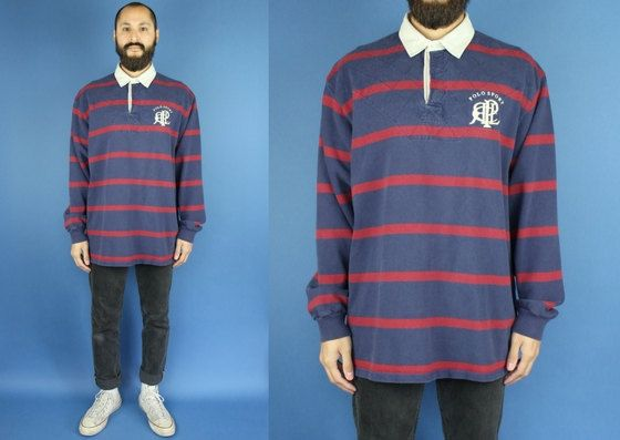 Polo Sport Ralph Lauren Long Sleeve Striped Rugby Shirt Polo Sport Rugby Shirt Ralph Lauren Polo size XL by DiveVintage from Passport Vintage. Find it now at http://ift.tt/2j2F62y!