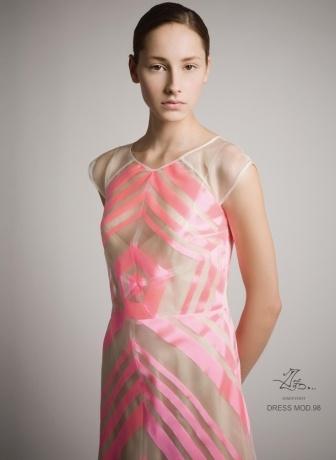 Exclusieve Spaanse kleding, schoenen en tassen voor vrouwen. MARDELNORTE.NL - Collectie - Collectie - Jurken - PV09-98 3 Fluo-Roze Jurk