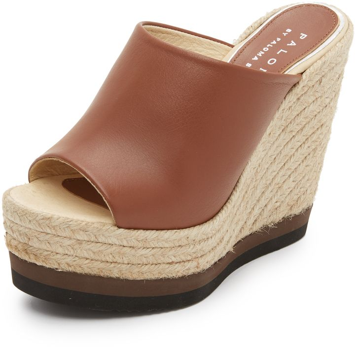 Paloma Barcelo Winter Wedge Mules
