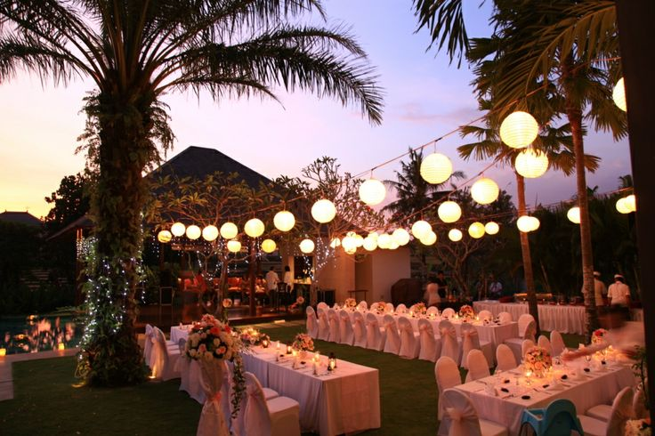our tropical garden #weddingreception - #weddingdinner - #weddings - #baliwedding - #baliweddingplanner - http://lilyweddingservices.com/