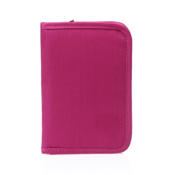 TEXU Women Multifunctional Canvas Clutch Bag Wallet Card Passport Holder Fuchsia
