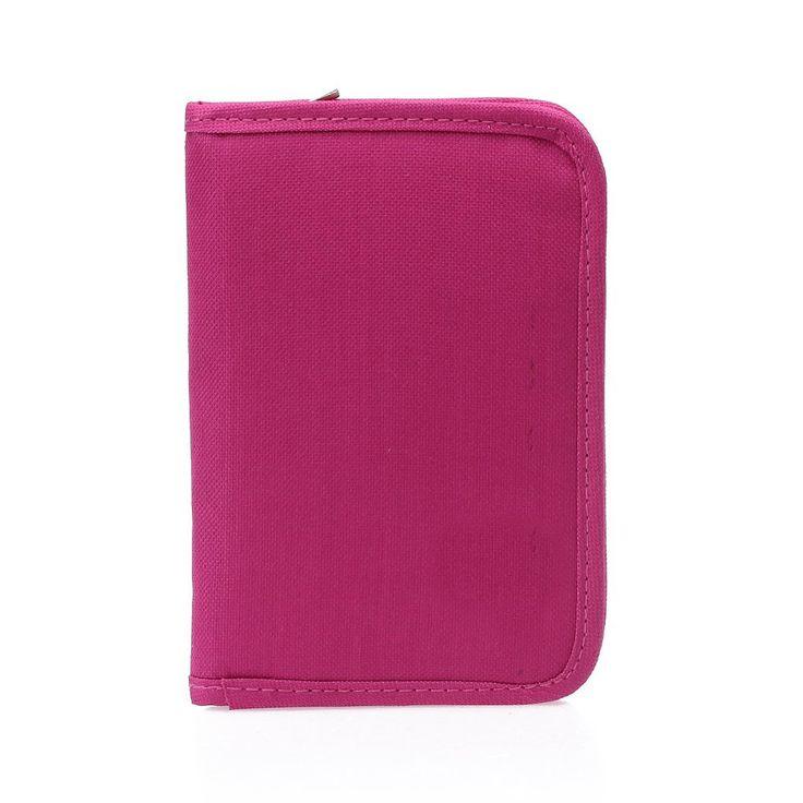 VSEN Hot StyleWomen Multifunctional Canvas Clutch Bag Wallet Card Passport Holder Fuchsia