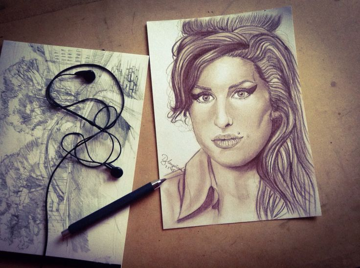 #art #amywinehouse #jazz #drawing #pencils #2016 #mysketchbook #arimohard