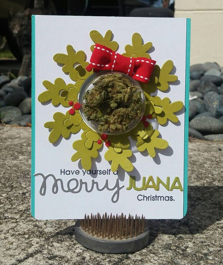 Merry-juana Christmas Cannabis Greeting Card by HempmarkGreetingCard on Etsy https://www.etsy.com/listing/490323891/merry-juana-christmas-cannabis-greeting