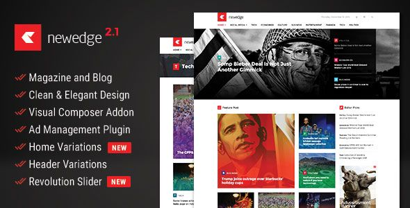 NewEdge - Responsive WordPress Magazine Theme