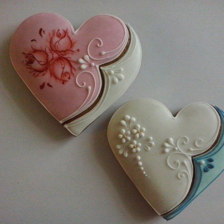 Lacey Heart Cookies
