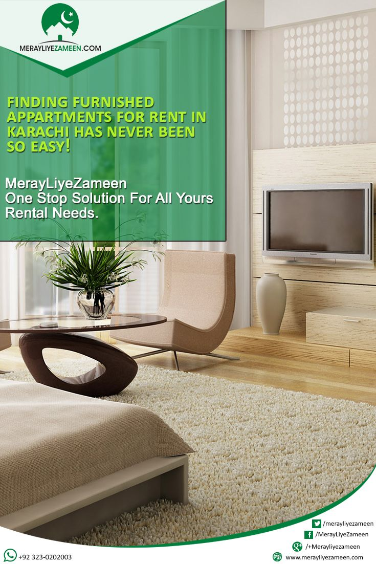 Finding #Furnished #Appartments For Rent In #Karachi Has Never Been So Easy! #Merayliyezameen #MLZ #Realestate #BestRealtor #realestateagent  Contact us +92 323-0202003