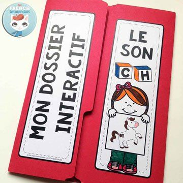 French Phonics Resources: dossier interactif – le son CH. French interactive lapbook to practice the sound CH, as in CHeval, bouCHe, CHien, etc.
