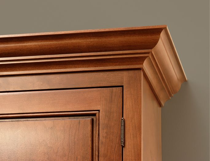 cliqstudios classic ceiling crown molding is the perfect compliment to any kitchen cabinet door style - Kitchen Cabinet Trim Molding Ideas