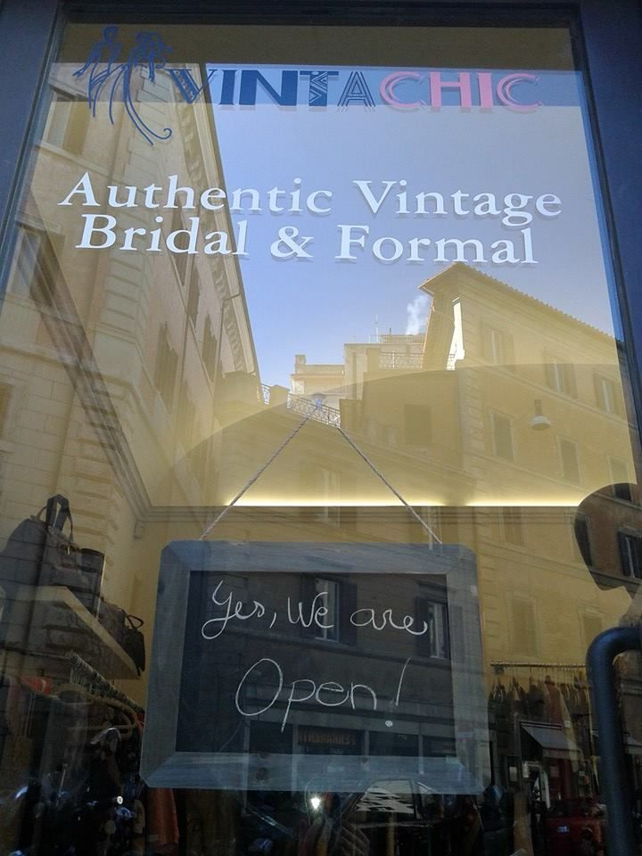 Our new #vintageshop in Via di Ripetta Authentic Vintage Bridal & Formal